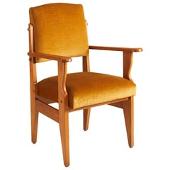 1940s French Guillerme et Chambron Armchair