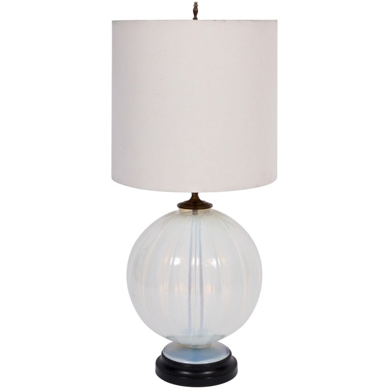Marius-Ernest Sabino Opalescent Glass Table Lamp