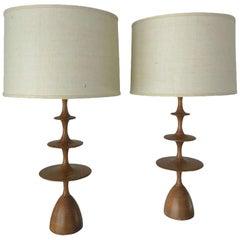 """Christopher Anthony Ltd. """"Metro"""" Table Lamp in Cerused Light Oak"""