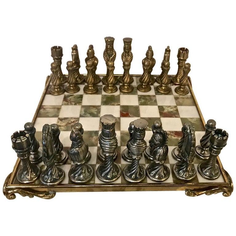 Onyx and Bronze Chess Set
