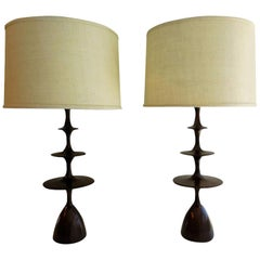 "Christopher Anthony Ltd. ""Metro"" Table Lamp in Polished Walnut"