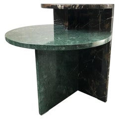 Brazilian Contemporary Café Side Table in Marble