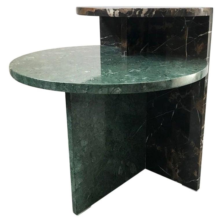 Brazilian Contemporary Café Side Table in Marble