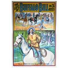 Buffalo Bill Movie Poster American, circa 1912