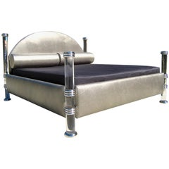 Marcello Mioni King-Size Four-Post Lucite Bed