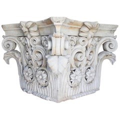 Coadestone Architectural Terracotta Capital Stamped Croggon, London, 1832