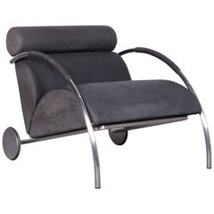COR Zylkus Designer Leather Armchair Black One-Seat Chair