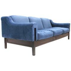 Italian Three-Seat Velvet Sofa by Ipar, 1960s