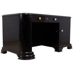French Art Deco Black Desk