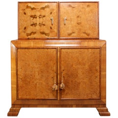 Art Deco Walnut Cocktail Cabinet