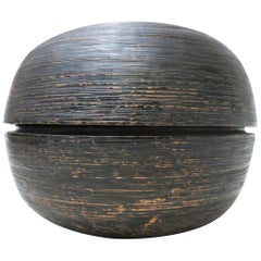 Lorenzo Burchiellaro Brutalist Copper Ball Sculpture