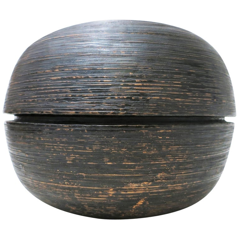 Lorenzo Burchiellaro Brutalist Copper Ball Sculpture For Sale