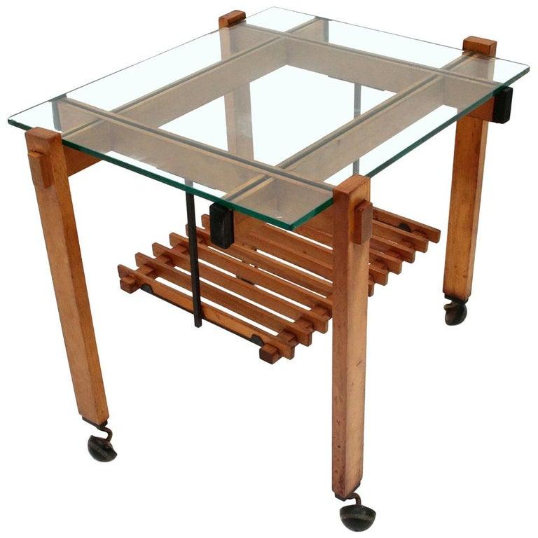Italian Coffee Table with Glass, 1960s