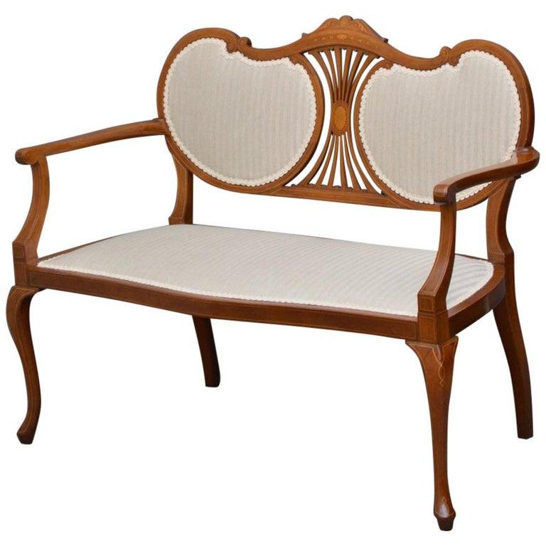 Attractive Edwardian Mahogany Sofa or Settee