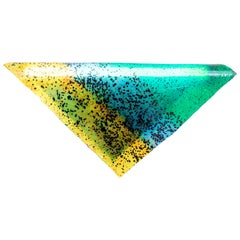 Contemporary Wall Lamp 'Particle' by Kueng Caputo, Green and Yellow