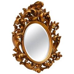 Antique Carved Gilt Wood Mirror