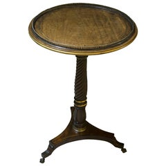 1st Empire French Mahogany Occasional Table with Strung Brass Line