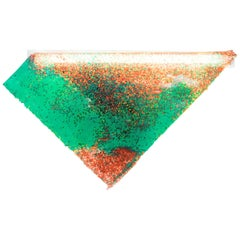 Contemporary Wall Lamp 'Particle' by Kueng Caputo, Orange, Red and Green