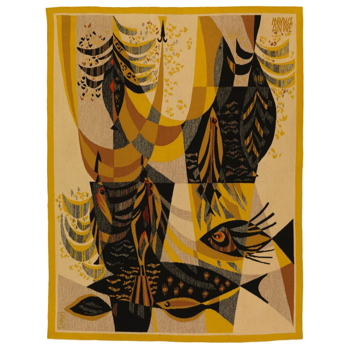 Mid-Century Modern Aubusson Tapestry by Maurice Andre
