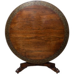 Regency Circular Brass Inlaid Centre Table