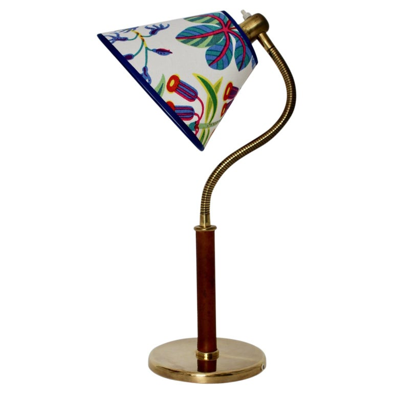 Josef Frank Art Deco Brass Table Lamp for J. T. Kalmar Vienna, circa 1934