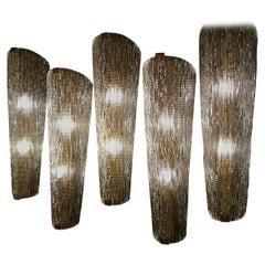 Fantastic Set of 12 Italian Designed Torch Wall Scones in Murano Glass