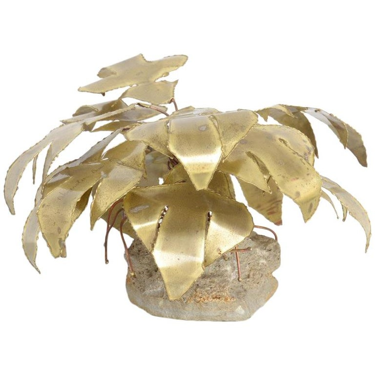 Brass Palm Tree Sculpture by Daniel Dhaeseleer For Sale