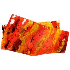 Jimmiz Marea Contemporary Organic Multicolor Glass Centerpiece Sculpture