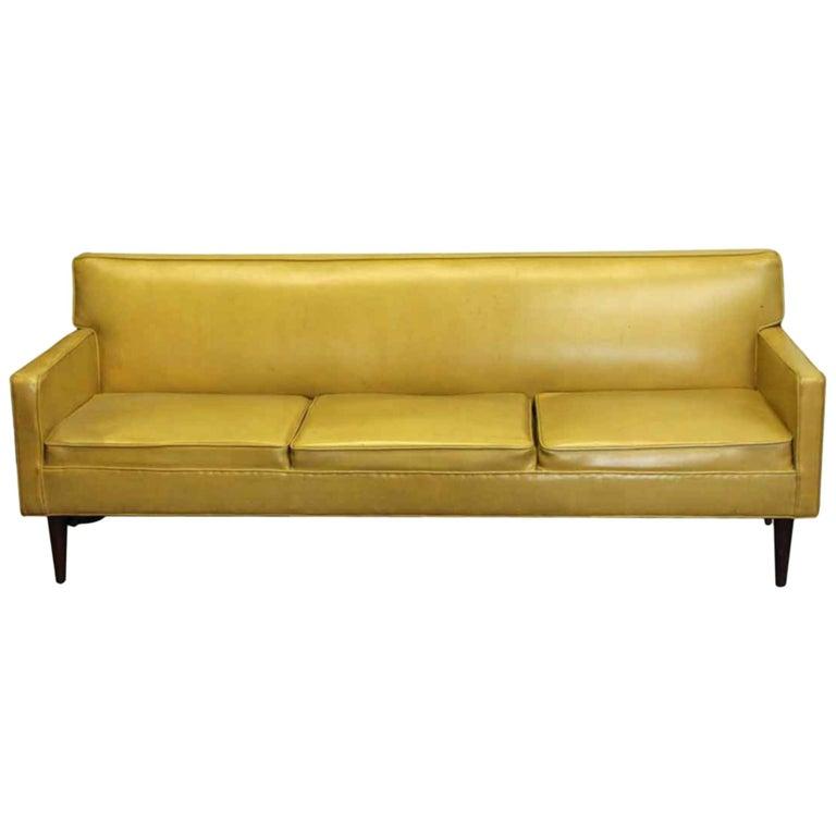 1950s Mid-Century Modern Mustard Yellow Couch