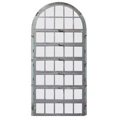 1930 New Jersey Steel Palladian Window with Horizontal Openings and Frame