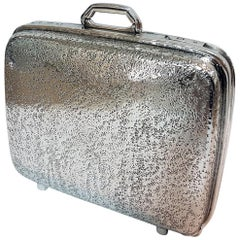 20th Century Italian Sterling Silver Hinged Table Box in the Shape of a Suitcase