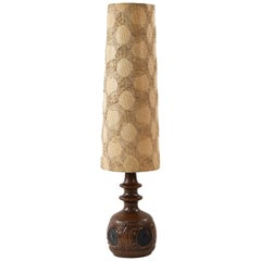 Ceramic Danish Table Lamp, circa 1970s