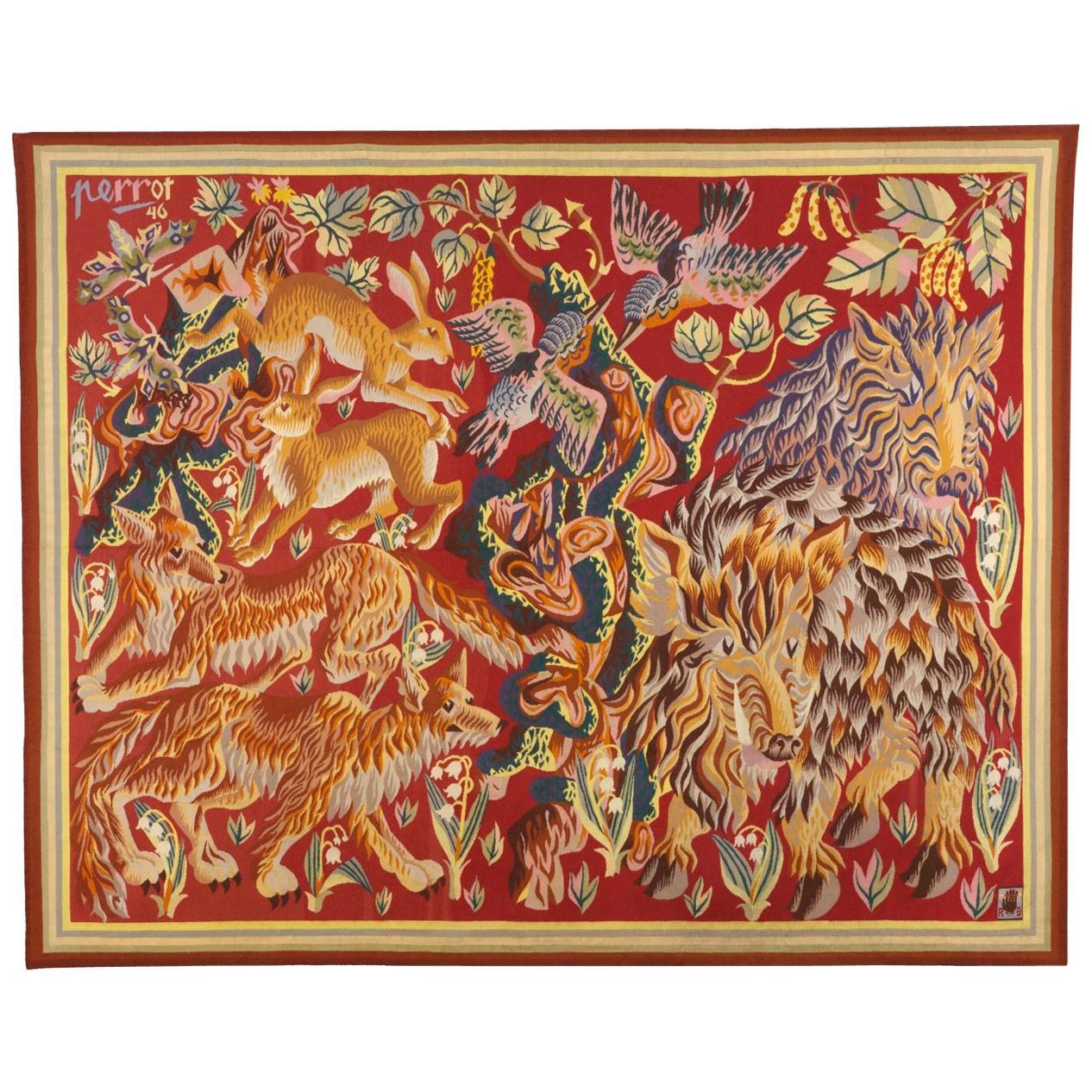 Rene Perrot Aubusson Tapestry