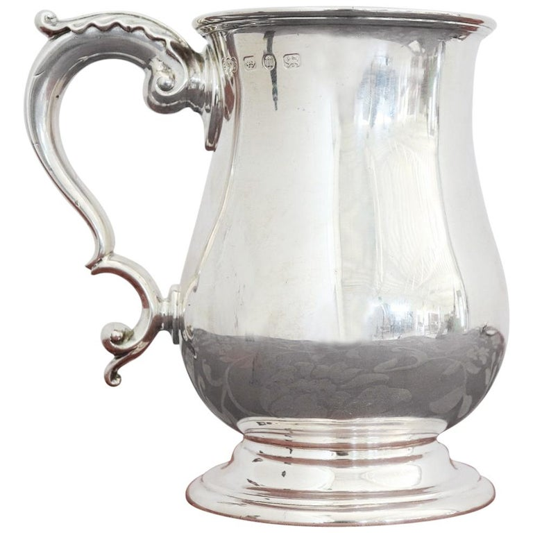 20th Century English Sterling Silver 925 Tankard by Elkington & Co, 1902