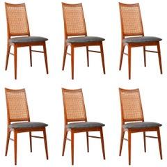 1960s Set of Six Danish Teak Dining Chairs by Niels Koefoed