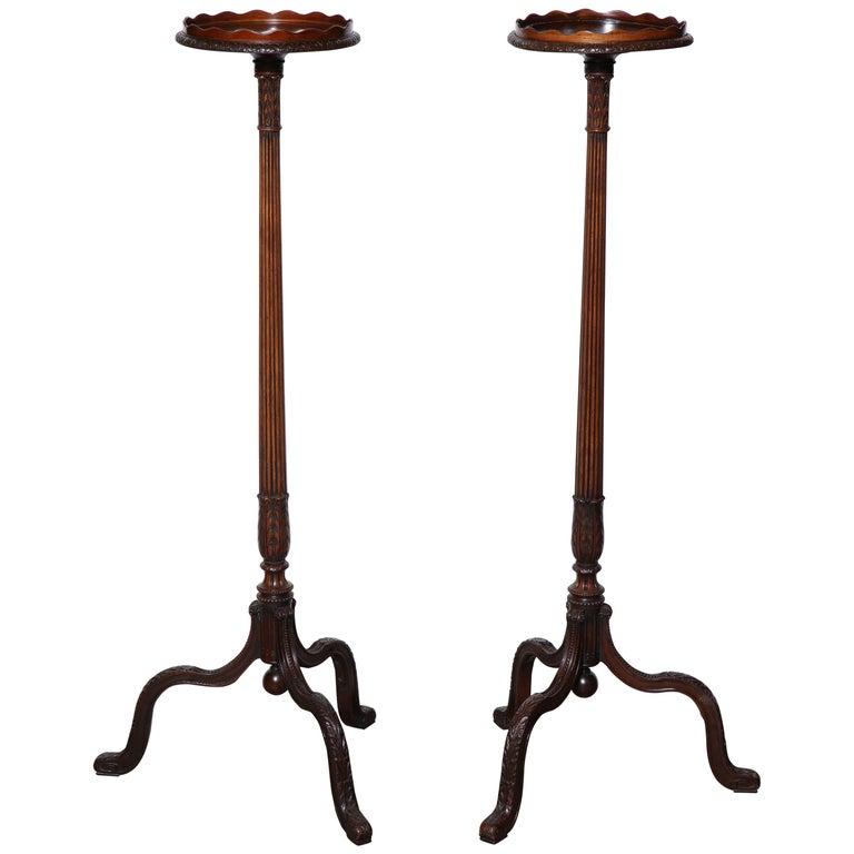 Pair of George III Mahogany Pedestals
