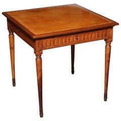 Italian Louis XVI Leather Top Game Table