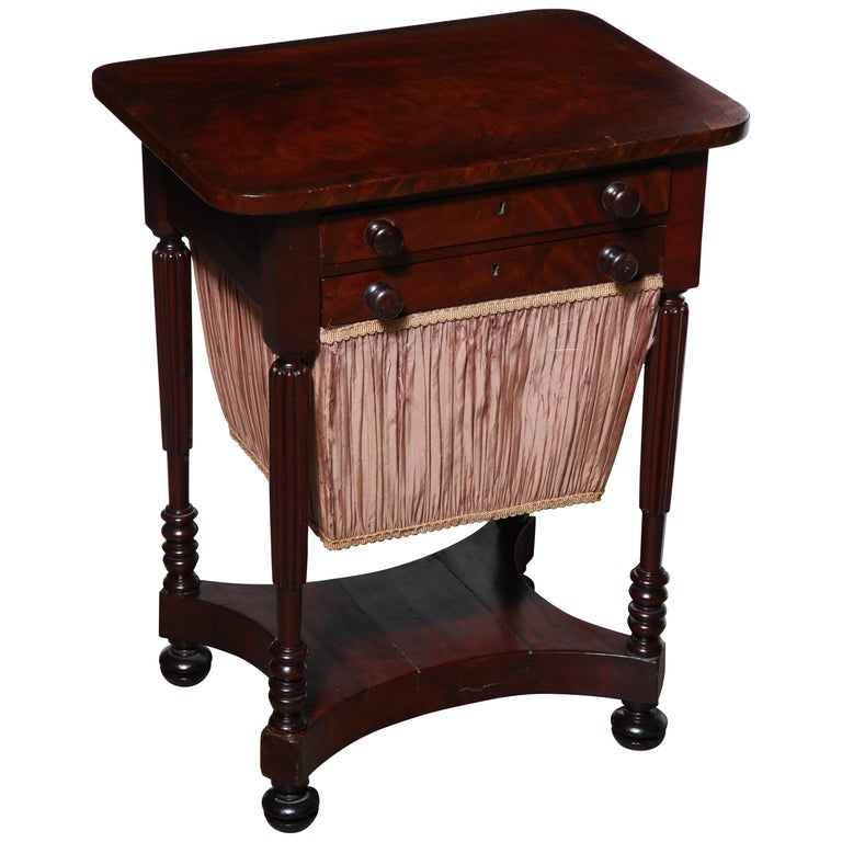 Federal Mahogany Worktable For Sale