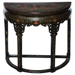 Chinese Demilune Console