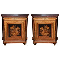 """Pair of Louis XVI Marquetry Cabinets, Stamped 'Grohe"""""""