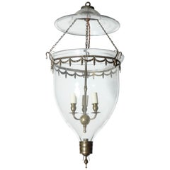 Federal Glass Bell Jar Lantern