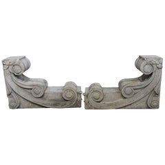 1910 Carved Stone Corbels from a New York City Building