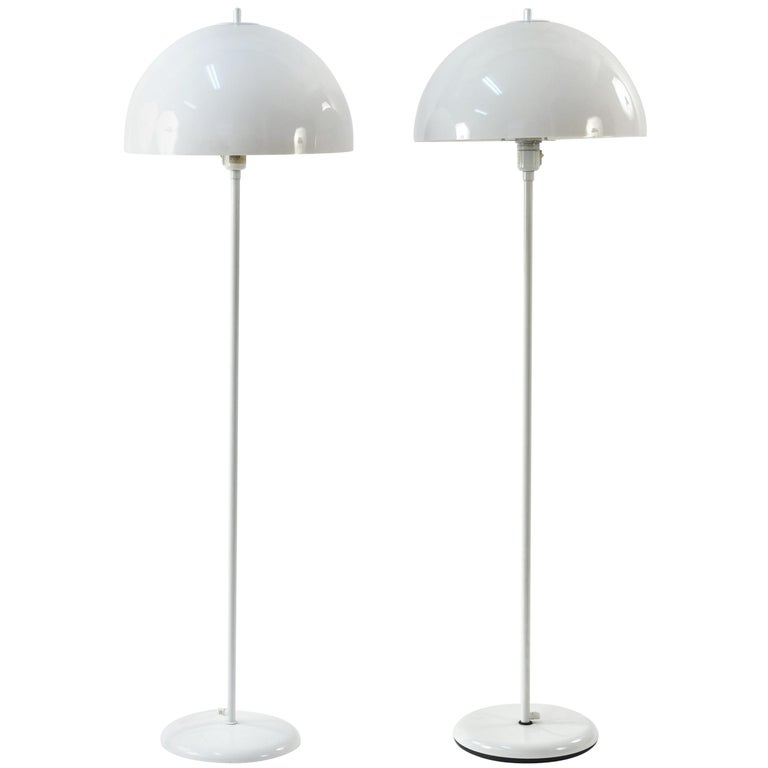Pair of Lyfa White Acrylic Floor Lamps