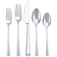 Bistro Cafe by Dansk Stainless Steel Flatware Set Service for 12 New 63 Pieces