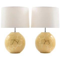 Pair of Karl Springer Lamps