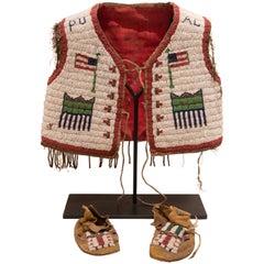 Plains Child's Vest with Moccasins