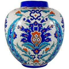 Art Deco Boch Freres Keramis Vase in the Iznik Style