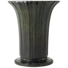 Just Andersen Bronze Vase, Denmark, circa 1940s