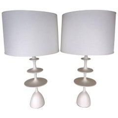 "Christopher Anthony Ltd. ""Metro"" Table Lamp in Waxed Gesso Finish"