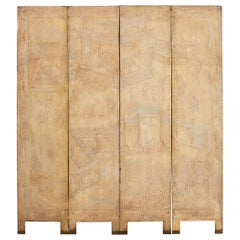 Set of Four Chinese Coromandel Screen Panels